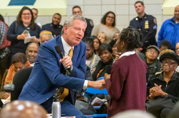 Montessori student attends town hall, asks Mayor Bill de Blasio tough questions