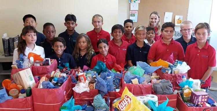Montessori students celebrate Thanksgiving on the move